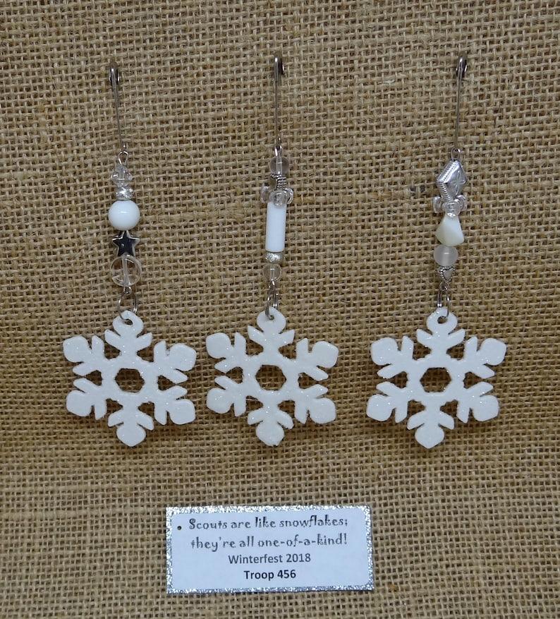 Set of Ten 10 Upcycled Snowflake Snow SWAP or Craft Kits image 0