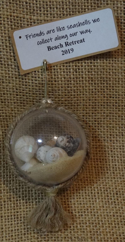 Set of Ten 10 Seashell Sand Beach Ocean Globe Scout SWAP or image 0