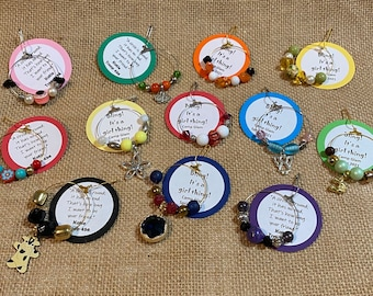Set of Ten (10) Upcycled Bling A Circle is Round Friendship Scout SWAP or Craft Kit
