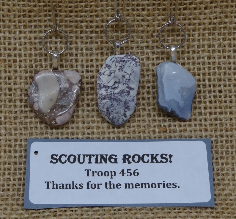 Set of 10 Rock Mineral Stone Scout Ready to Trade SWAPs image 0