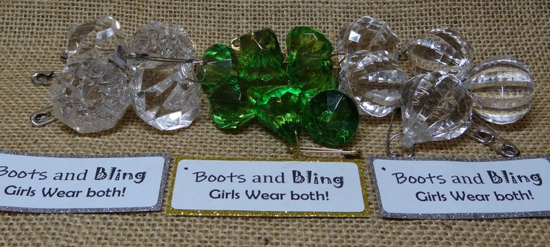 ONLY Set of Seventeen 17 Repurposed Upcycled Bling Scout image 0