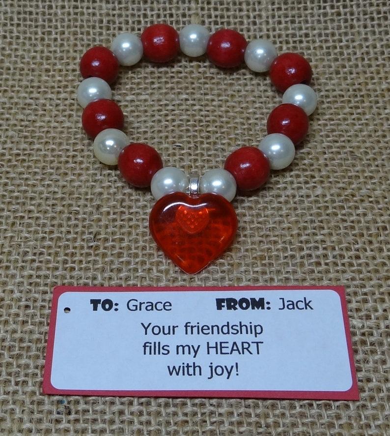 Valentine Valentine's Day Valentines Bracelet with Heart image 0