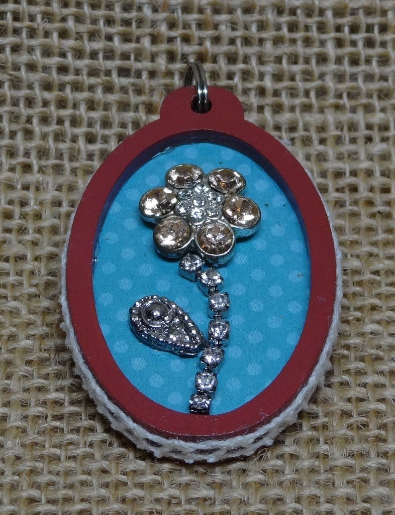 Homemade Upcycled Repurposed Costume Jewelry Frame Floral image 0