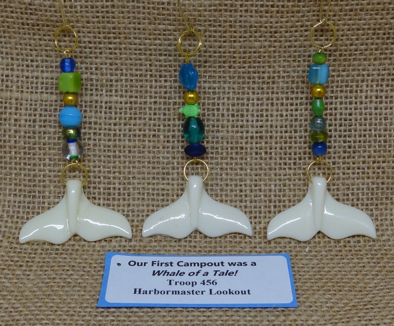 Set of Ten 10 Upcycled Whale Tail Whale of a Tale Scout SWAP image 0