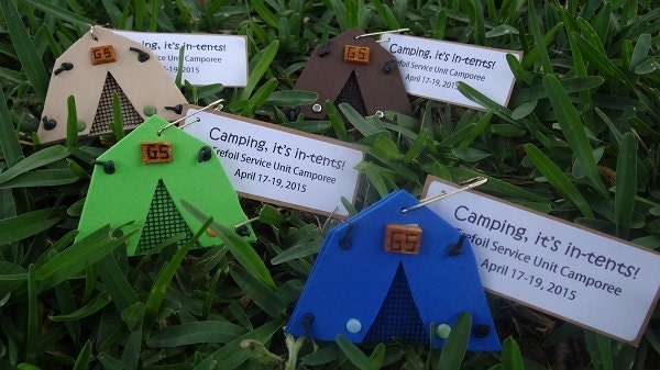 Set Of 10 Camping It S In Tents Scout Swap Or Craft Kits Etsy