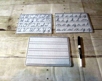 Cursive Writing Boards, Cursive Letter Writing Boards, Cursive Writing, Educational, Letter Writing,  Learning Center, CPSC Compliant