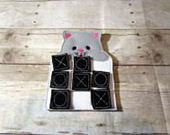 Cat Tic Tac Toe Game, Tic Tac Toe, Kids Game,  Holiday Gift, Travel Game, Easter Basket Gift, Party Favor, Game, CPSC Compliant