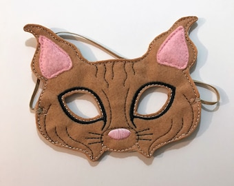 Felt Bobcat Mask, Mask, Animal Mask, Kids Mask, Felt Mask, Pretend Play, Clown, Child Mask, CPSC Compliant,  Performance Mask, Halloween
