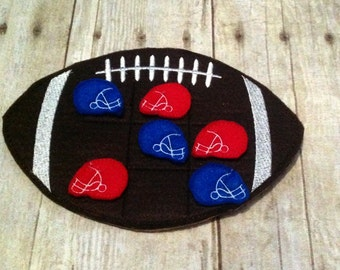 Football Tic Tac Toe Game, Tic Tac Toe Game, Football Game, Kids Game, Game, Birthday Gift, Holiday Gift, Travel Game, CPSC Compliant