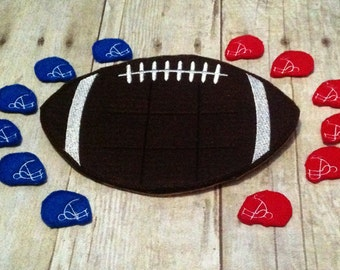 Football Tic Tac Toe Game, Kids Game, Handcrafted Game, Birthday Gift, Holiday Gift, Travel Game, Easter Basket Gift, CPSC Compliant