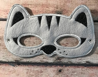 Adult Cat Mask, Felt Cat Mask, Mask, Felt Mask, Mask, Animal Mask, Party Mask, Felt Teen Mask, Dress Up Mask, Party Favors