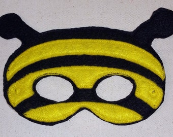 Felt Bumble Bee Mask, Animal Mask, Pretend Play, Child Mask, CPSC Compliant, Bee Mask, Bumble Bee Mask, Mask, Felt Mask
