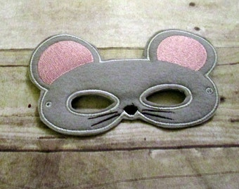 Felt Mouse Mask, Animal Mask, Kids Mask, Felt Mask, Pretend Play, Child Mask, CPSC Compliant, Mask, Mouse Mask, Rat Mask