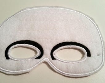 Felt Mummy Mask, White Mask, Felt Mask, Adult Mask,  Costume Mask, Dress Up Mask, Machine Stitched, Pretend Play, Adult Mask