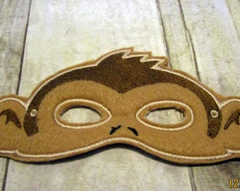 Felt Monkey Mask, Animal Mask, Kids Mask, Felt Mask, Mask, Pretend Play, Monkey Mask, Monkey, Child Mask, CPSC Compliant