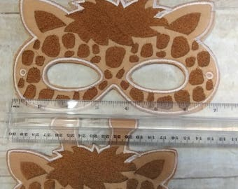 Giraffe Mask, Felt Giraffe Mask, Mask, Felt Mask, Animal Mask, Kids Mask, Party Favor, Pretend Play, Child Mask, CPSC Compliant