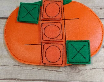 Tic Tac Toe, Pumpkin Tic Tac Toe, Tic Tac Toe Game, Game, Travel Game, Pumpkin Tic Tac Toe Game,  Kids Game, Birthday Gift, CPSC Compliant