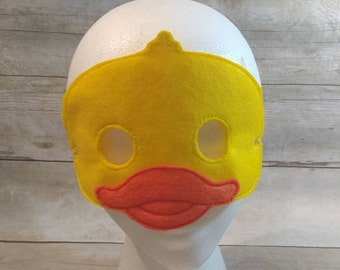 Duck Mask, Felt Mask, Kids Mask, Machine Stitched, Pretend Play, Child Mask, Festive Mask, Animal Mask,  Mask, Orange Mask, CPSC Compliant