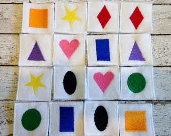 Felt & Vinyl Memory Game, matching Game, Handcrafted, Learning Tool, Educational, Learning center, Teacher Gift, CPSC Compliant
