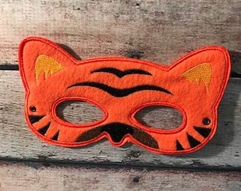 Adult Felt Mask, Tiger Mask, Felt Mask, Adult Mask, Older Child Mask, Animal Mask, Mask, Felt Animal Mask, Costume Mask
