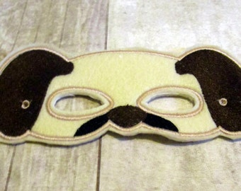 Felt Puppy Mask, Dog Mask, Animal Mask, Machine Stitched, Pretend Play Mask, Felt Mask, Child Mask, CPSC Compliant, Mask,