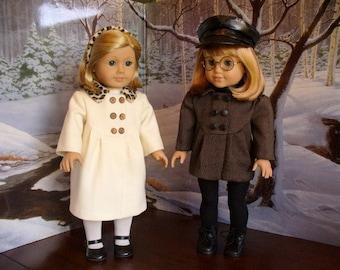 Doll Clothes Pattern, Lea's Little Coat, No 1012