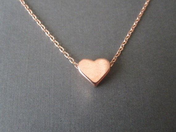 Rose Gold Heart Necklace  1016f6bfd