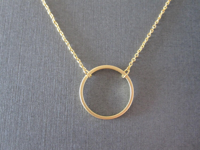 f5320ddaf Gold Circle Necklace | Etsy