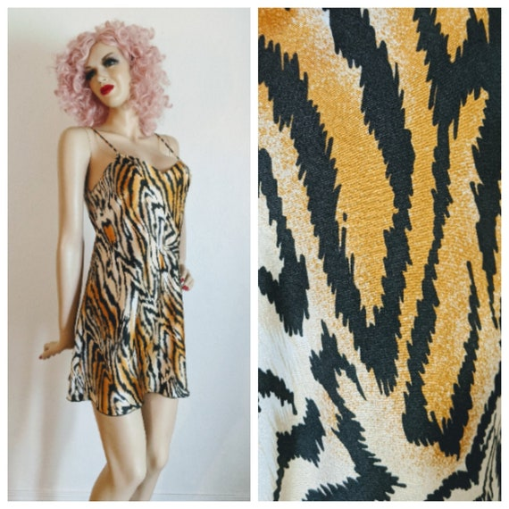 Lucie Ann Beverly Hills- 1970's Sexy Tiger Print … - image 1