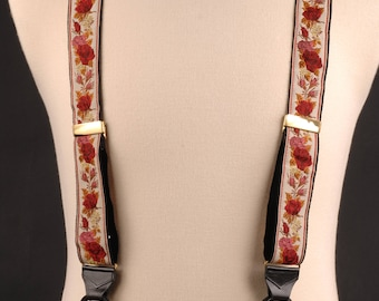 Suspenders / Braces, Roses with Rosebuds and Foliage, England