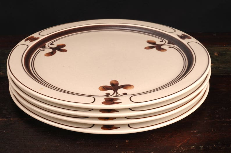 9 Rosenthal Studio Line Siena Brown Dinner Plates, Germany
