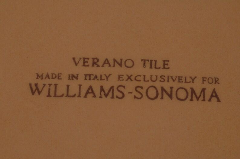 Italy Williams-Sonoma Aqua Verano Tile Bowls