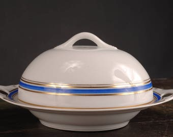 Saxony, Stouffers China, Covered Butter Dish, Germany