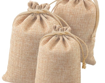 2fd146332 100 150 200 pcs Wedding Hessian Burlap Jute Favor Gift Bags