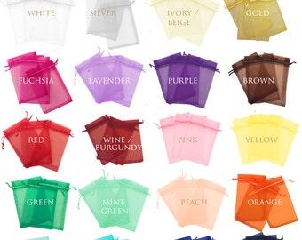 500 pcs Premium 9cm x 12cm ORGANZA GIFT BAGS Jewellery Pouch XMAS Wedding Favour