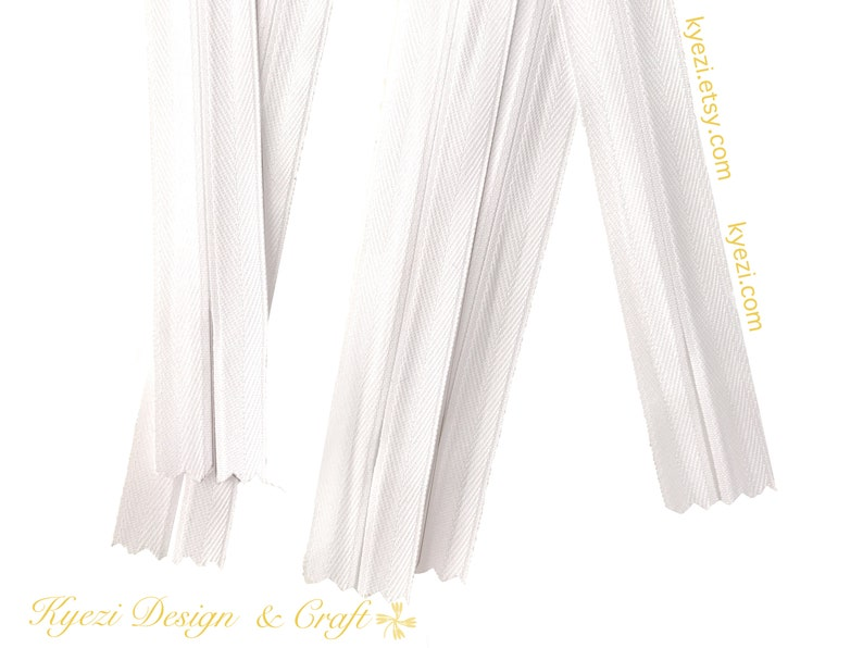 Black Navy Light Grey White Off White Beige Natural 20 30 50pcs 18 inch Invisible Zippers