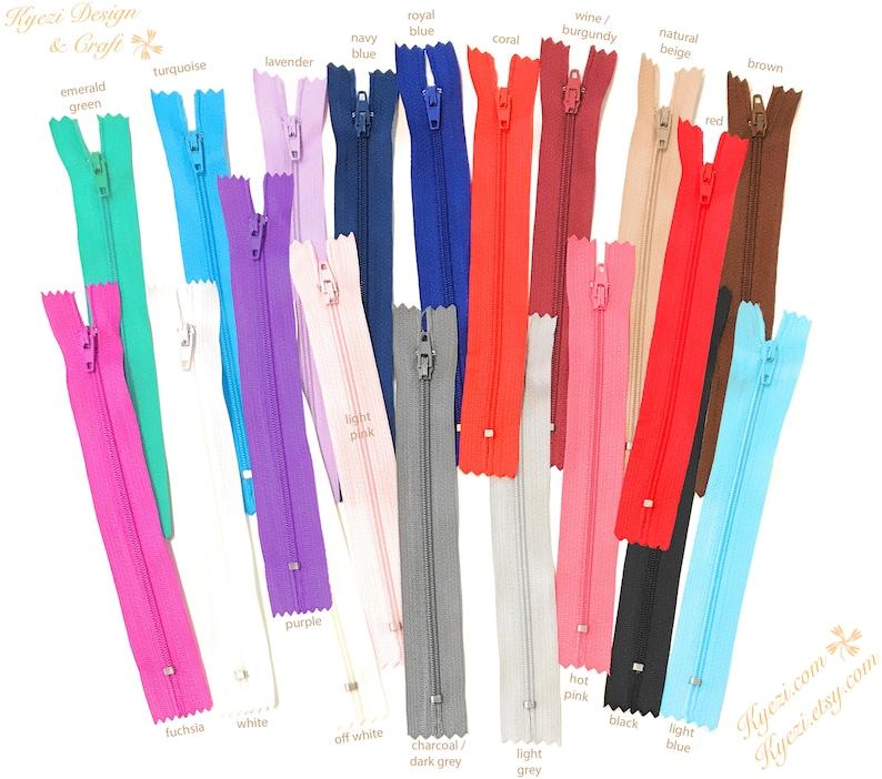 5 10 15 pcs 3 inch White Nylon Coil Zippers