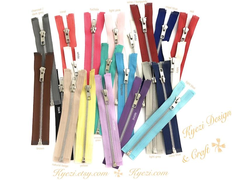 Gauge 5 Sale Wholesale Zippers Aluminum Metal Teeth Zippers 18 Inch Yellow Silver Separating Jacket Zipper