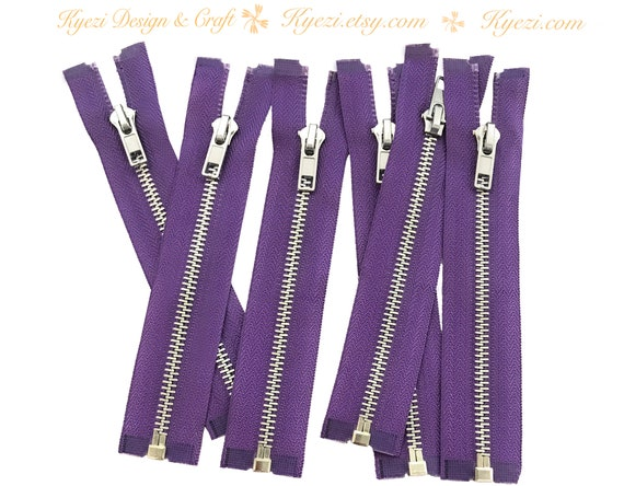 IVORY Zippers by the Roll 6 yards Aluminum