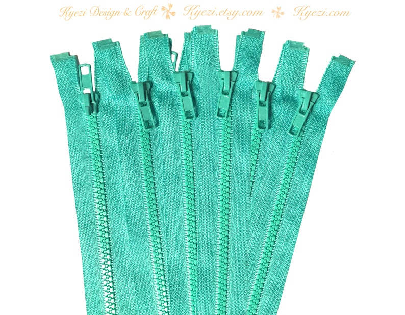 Gauge 5 24 Inch Green Chunky Teeth Molded Plastic Separating Sports Zippers