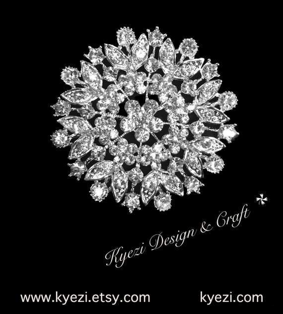 Multi Color High Quality Crystal Rhinestone Embellishment Broach Pin Rhinestone Brooch Big Clear Crystal Brooch DIY Wedding Bouquet STY C6