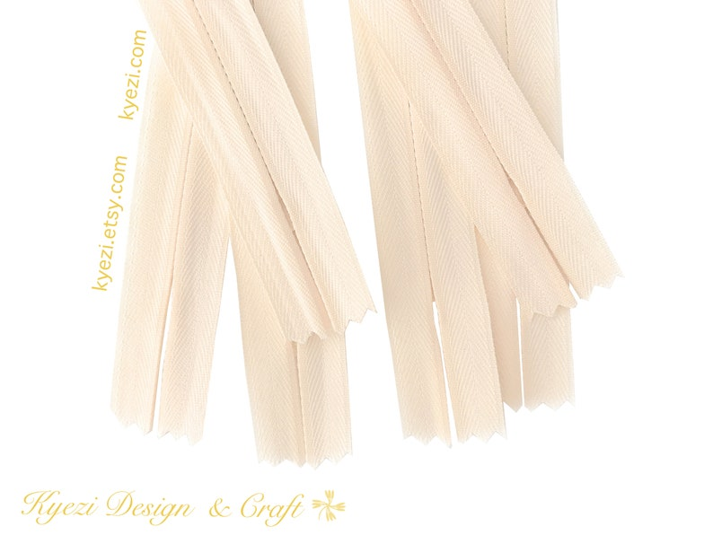 20 30 50 pcs 9 inch Off White Invisible Zippers