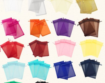 "50 pcs 4""x6"" Sheer Drawstring Organza Bags Jewelry Pouches Wedding Party Favor Gift Bags Gift Bags Candy Bag - US SELLER Fast Shipping"