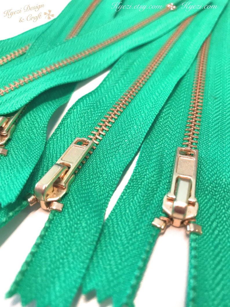 3 5 10 pcs 8 inch Light Pink Tape U.S SELLER Fast Shipping Brass Metal Teeth Zippers