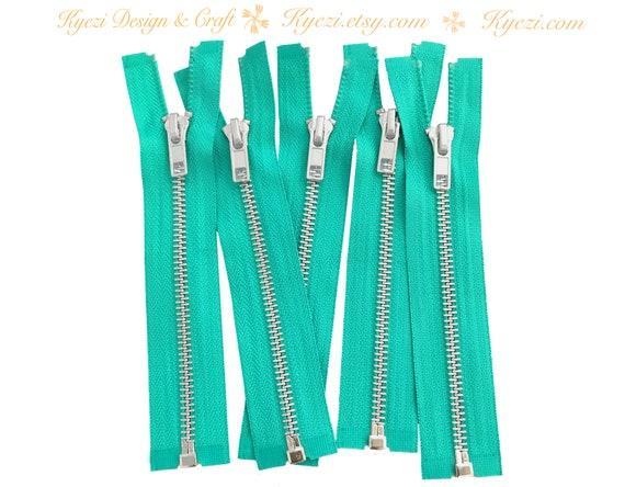 12 Inch Natural Beige Silver Separating Jacket Zipper Gauge 5 Sale Wholesale Zippers Aluminum Metal Teeth Zippers