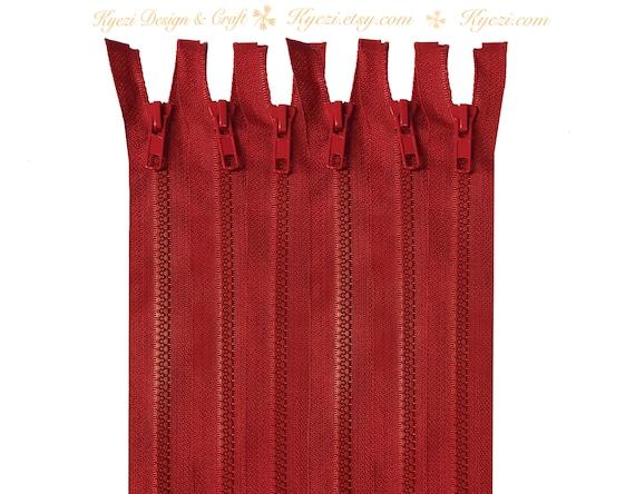 Gauge 5 36 Inch Burgundy Chunky Teeth Molded Plastic Separating Sports Zippers