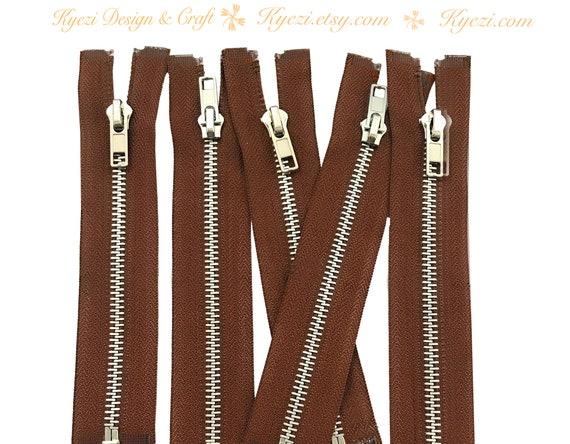 14 Inch White Silver Separating Jacket Zipper Gauge 5 Sale Wholesale Zippers Aluminum Metal Teeth Zippers