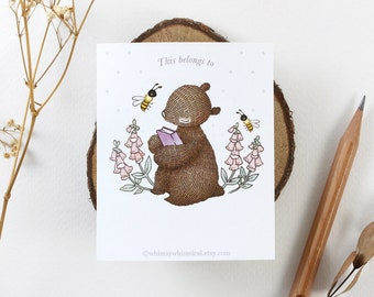 12 Bookplates - Bear's First Storybook