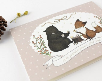 Friendship Card - Best Friends Forever and Ever - 10 Greeting Cards