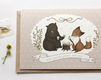 Friendship Card - Best Friends Forever and Ever - Greeting Card